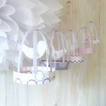 Free Printable Paper Bird Cage Decorations - Pink and Gray