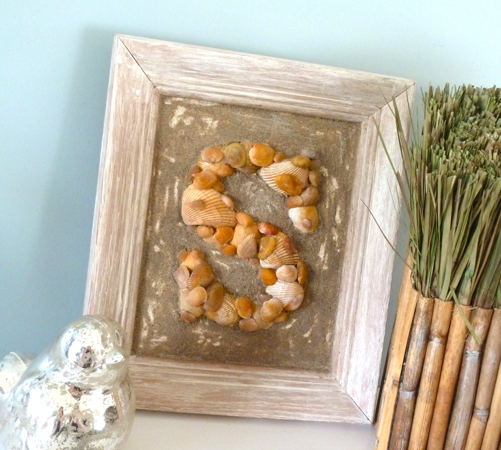 Framed Seashell Monogram