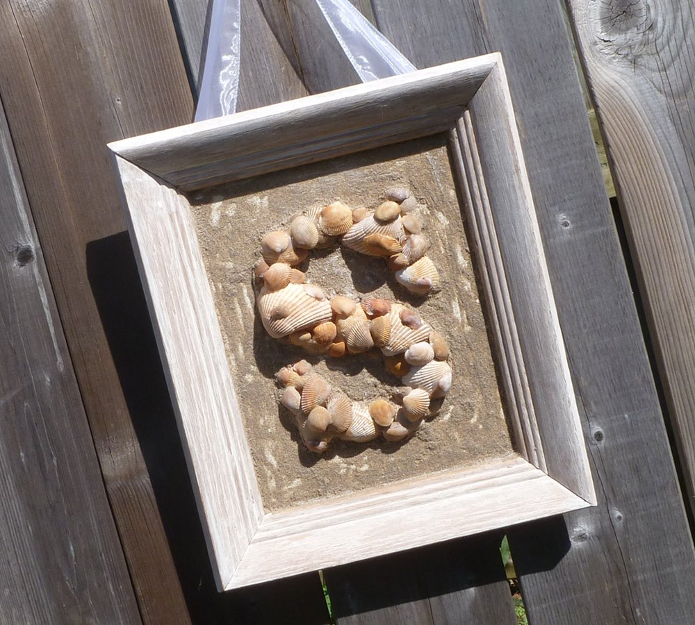 Finished Seashell Monogram - Outside