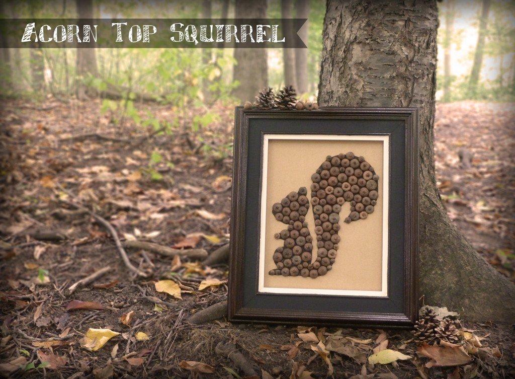 Acorn Top Squirrel Silhouette - LittleStuff.me