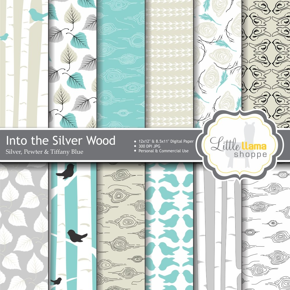 Birch Digital Scrapbook Paper