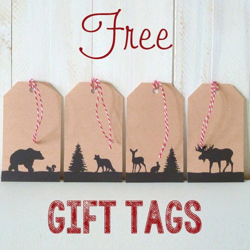 Woodland Christmas Tags