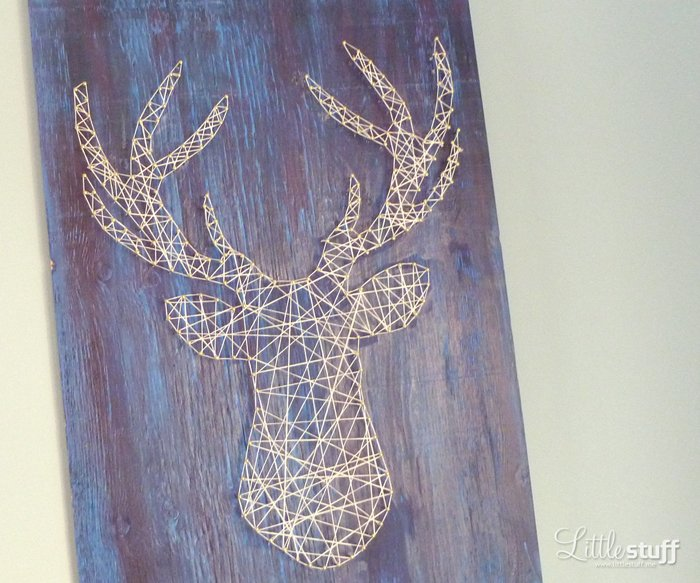 LittleStuff.me: Deer Head String Art