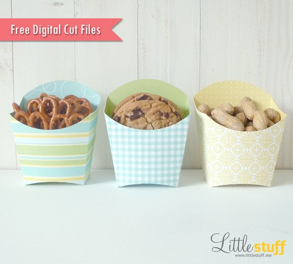 Free French Fry Container Digital Cut File, SVG and Silhouette Studio