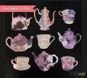 LittleStuff.me: Tea Digital Cut Files