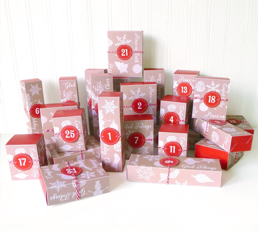 LittleStuff.me: Printable Advent Calendar Boxes