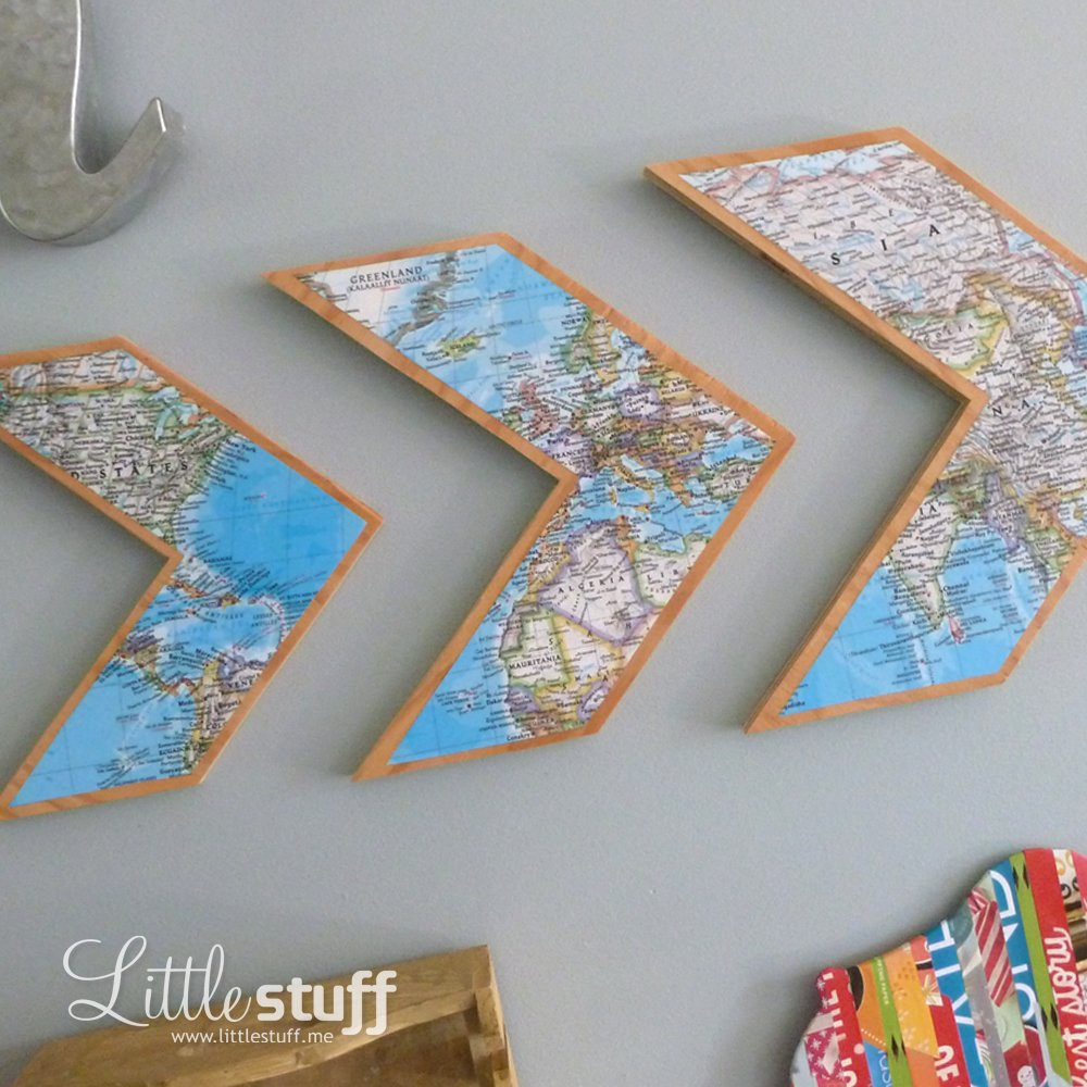 LittleStuff.me: Chevron Map Wall Art