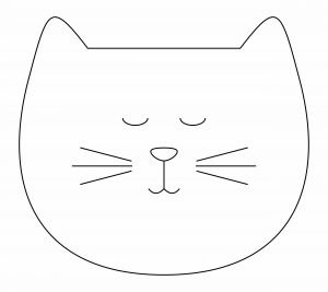 sleepy cat head template